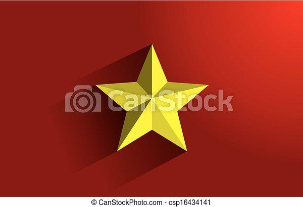 Flag of Vietnam - csp16434141