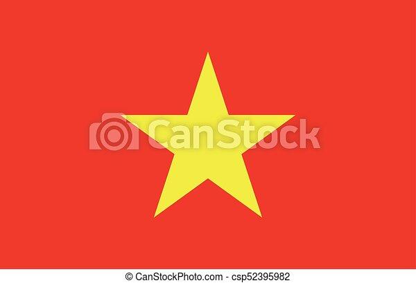 Flag of Vietnam - csp52395982