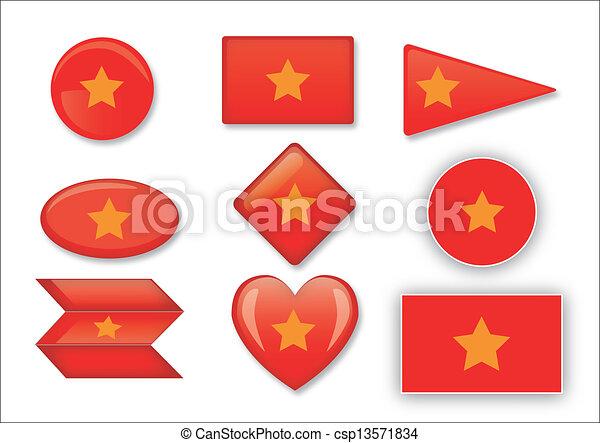flag of Vietnam - csp13571834