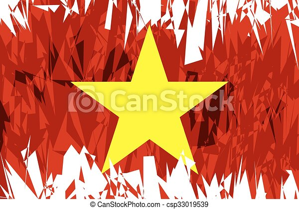Flag of Vietnam. - csp33019539