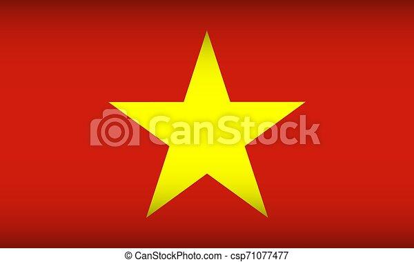 Flag of Vietnam. - csp71077477