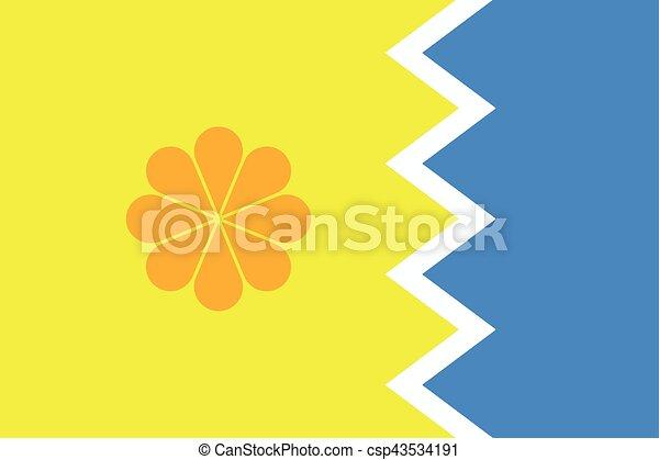 Flag of Vina del Mar, Chile. Vector Format - csp43534191