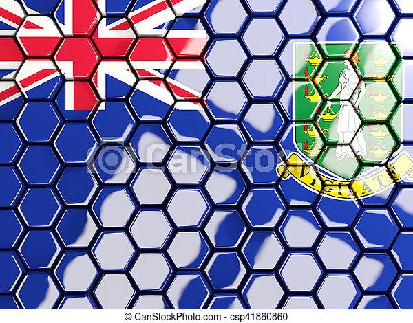 Flag of virgin islands british, hexagon mosaic background - csp41860860