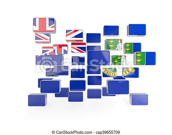 Flag of virgin islands british, mosaic background - csp39655709