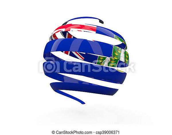Flag of virgin islands british, round icon - csp39006371