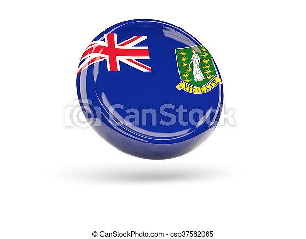 Flag of virgin islands british. Round icon - csp37582065