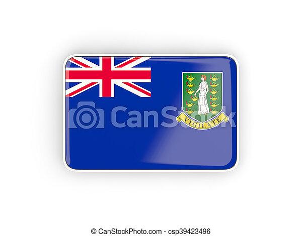 Flag of virgin islands british, rectangular icon - csp39423496