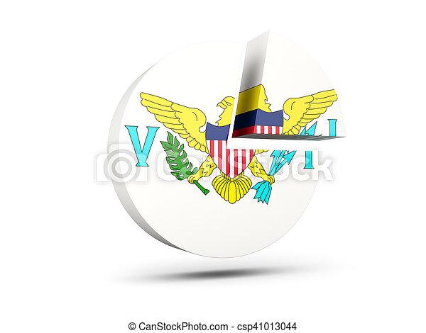 Flag of virgin islands us, round diagram icon - csp41013044