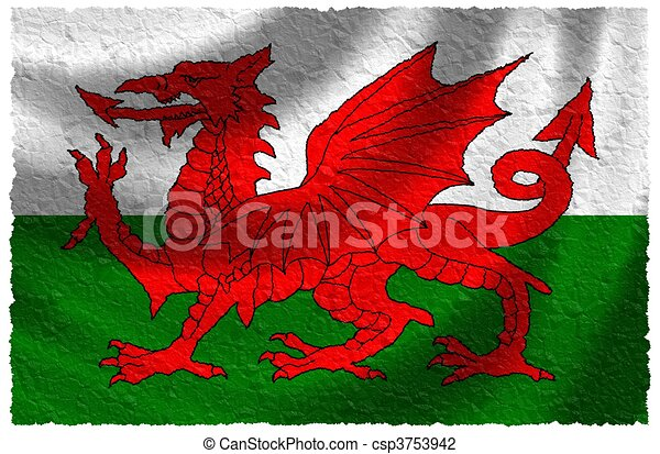 Flag of Wales - csp3753942
