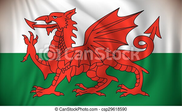 Flag of Wales - csp29618590