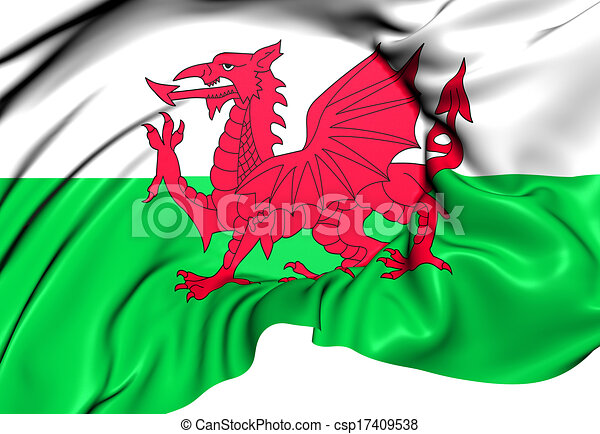 Flag of Wales - csp17409538