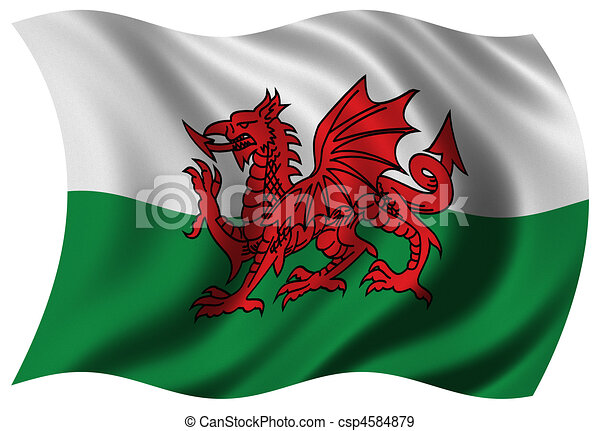 Flag of Wales - csp4584879