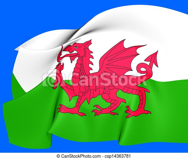 Flag of Wales - csp14363781