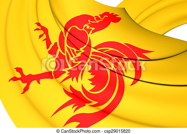 Flag of Wallonia, Belgium. - csp29015820