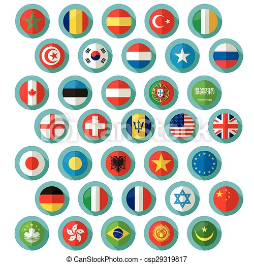 Flag of world. Vector icons - csp29319817