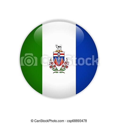 Flag of Yukon button - csp68893478