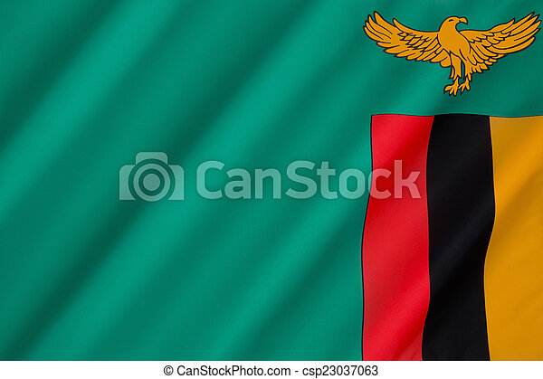 Flag of Zambia - csp23037063
