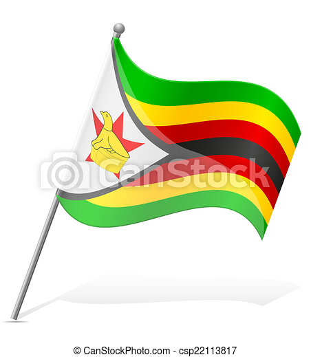 flag of Zimbabwe vector illustration - csp22113817