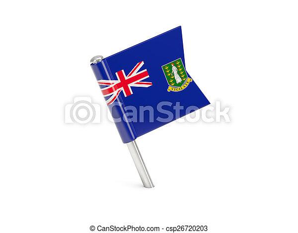 Flag pin of virgin islands british - csp26720203