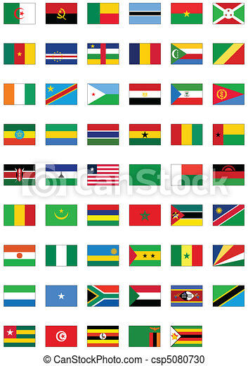 Flag set of all African counties. - csp5080730