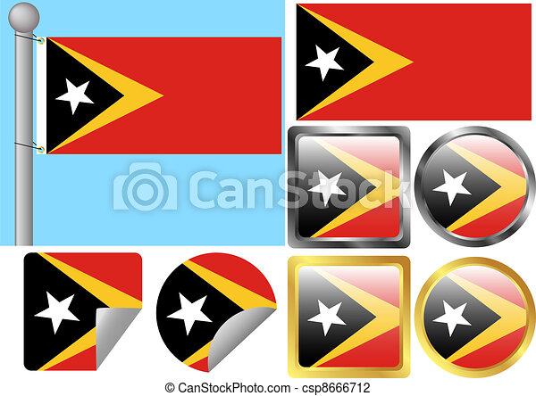 Flag Set Timor-Leste - csp8666712