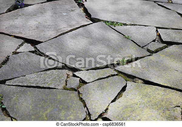 Flag Stone Pattern As Pavement - csp6836561