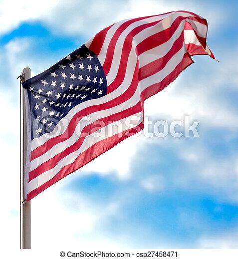 flag, united states - csp27458471