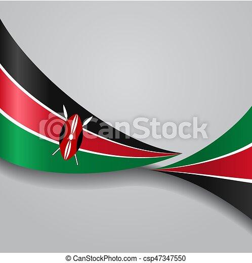 Kenianische Flagge. Vector Illustration. - csp47347550