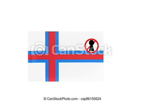 flag with covid 19 warning - csp86150624