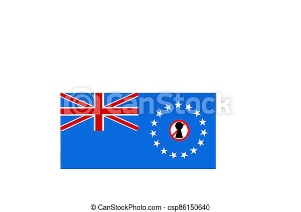 flag with covid 19 warning - csp86150640