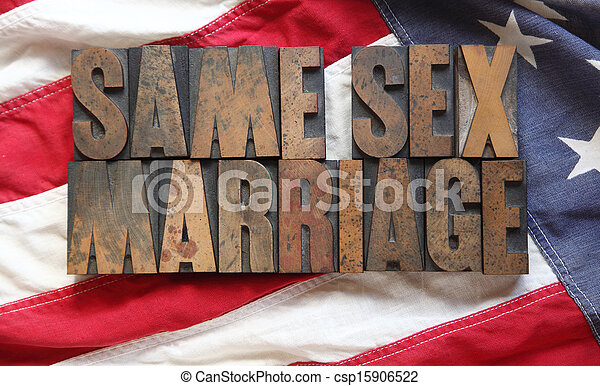 flag with same sex marriage words - csp15906522