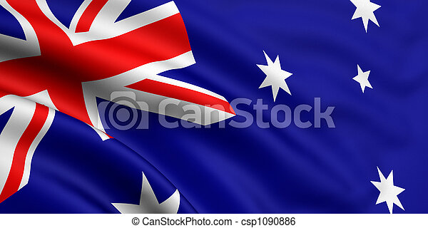 flagga, australien - csp1090886