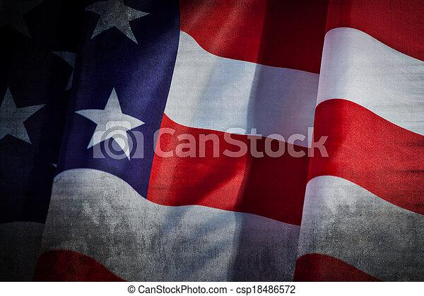 flagga, grunge, usa - csp18486572