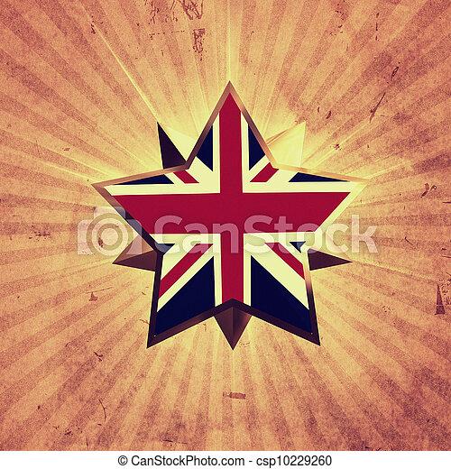flagga, stjärna, uk - csp10229260