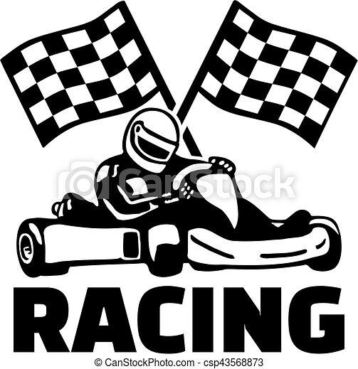 Wonderful Flaggen, rennsport, ziel, kart. AC-54