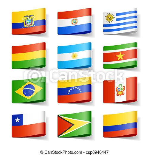 flags., america., värld, syd - csp8946447