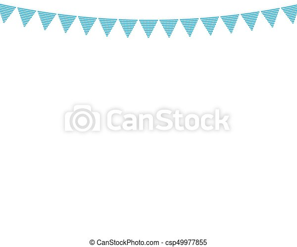 Flags hanging colors of the Bavarian Flag - csp49977855