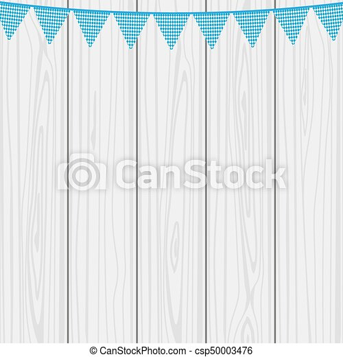 Flags hanging colors of the Bavarian Flag - csp50003476
