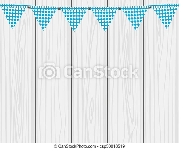 Flags hanging colors of the Bavarian Flag - csp50018519