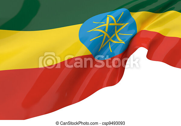 Flags of Ethiopia - csp9493093