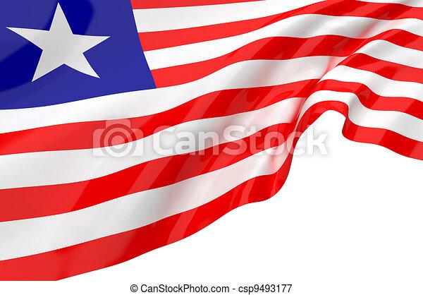 Flags of Liberia - csp9493177