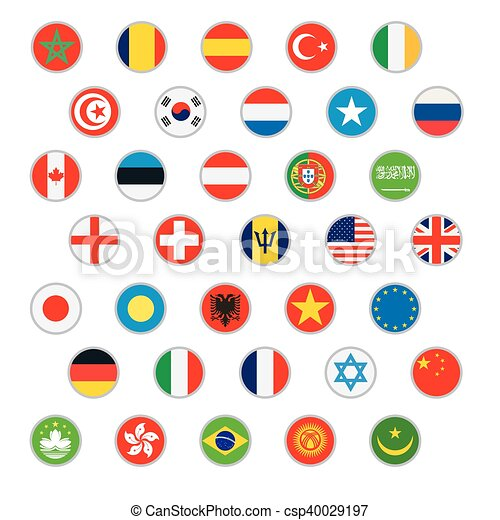 Flags of world Vector icons set - csp40029197