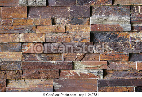 Flagstone Brick Wall Pattern #2 - csp11242781