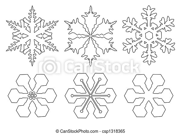 Snow Flake Illustrations And Clipart 54827 Snow Flake Royalty Free