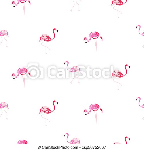 Flamant Rose Pattern Seamless Main Dessiné Dessin