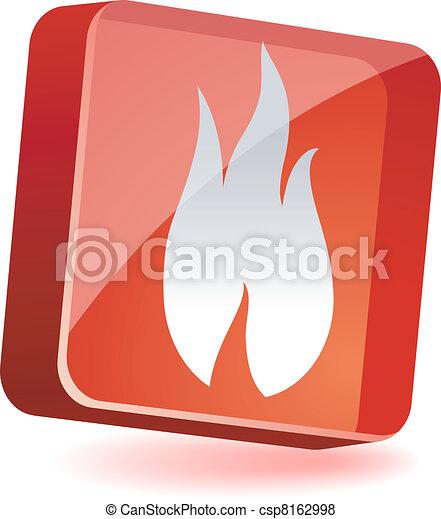 Flame Icon. - csp8162998