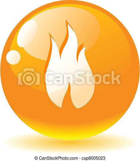 Flame icon. - csp8005023