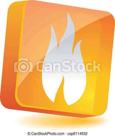 Flame Icon. - csp8114632