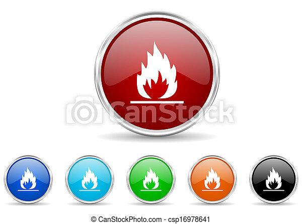 flame icon set - csp16978641