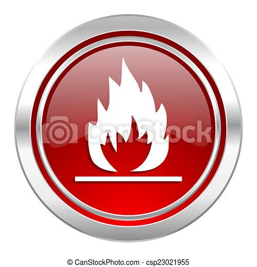 flame icon - csp23021955